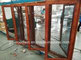 Окно термально пролома верхнего качества Woodwin алюминиевое с экраном москита