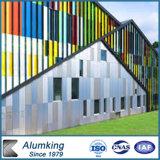 Polyester, das Innenwand-Dekoration-hölzernes zusammengesetztes Aluminiumpanel beschichtet
