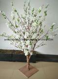 Tabela de seda decorativas Pêssego Artificial Plum flor branca Tree