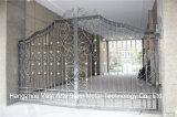 Haohanの良質の外部の機密保護の装飾的な錬鉄の塀のゲート6
