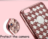 Bling Glitter Diamond Hollow fuera el caso de TPU para iPhone6 Plus