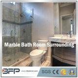 Elegante azulejo de mármore branco / cinza / amarelo para o banheiro ao redor / piso / parede