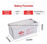 batteries 200ah d'acide de plomb scellées par 12V pour les systèmes domestiques solaires