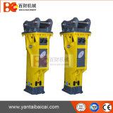 Hydraulischer Unterbrecher für quadratischen konkreten Stapel