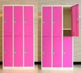 Wardrobe de aço do armazenamento de 6 portas em linha