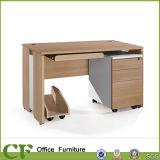 Mesa de madeira do computador de escritório da mobília dos CF com travamento de gavetas
