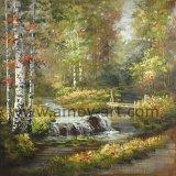Handpainted лесной ландшафт картины маслом на холсте