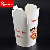 Fideos de pasta de papel desechables envases de alimentos de verificación