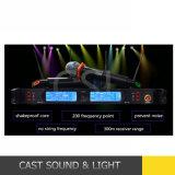 Zutreffendes Kanal-Karaoke-drahtloses Mikrofon Verschiedenartigkeit UHF2 (CSL-TD880D)