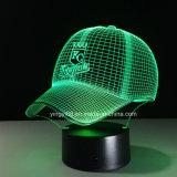 새로운 야구 모자 Kc Royals 3D LED 밤 빛 7 색깔 접촉 스위치 테이블 책상용 램프