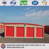 Fácil montar o armazenamento Prefab do frame de aço de baixo custo vertido para a venda