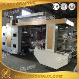 Stapel-Typ Plastikfilm-flexographische Drucken-Maschine der Farben-150m/Min 4