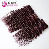中国の工場加工されていなく自然で赤いブラジルの緩い波のバージンの人間のブラジルの毛