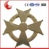 2016 значков золота логоса оптовой продажи изготовленный на заказ покрынных металлом