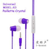 Design de ordem universal graves fortes Fone de ouvido intra-auriculares com microfone