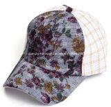 5 panneau imprimé floral tissu à mailles Leisure Sport Hat