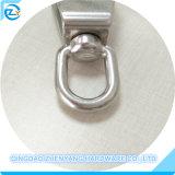 Bloco do anel giratório em aço inoxidável com roldana única