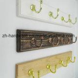 나무로 되는 고급 아름다운 옷 훅 & 금속 널 훅 (ZH-7026A)