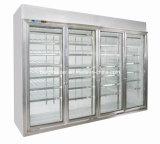 Supermercado Using refrigerador de vidro Heated do indicador (rachar o tipo)