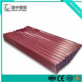 L'épaisseur 0.2mm tôle de toit de tôle ondulée sur avec enduit de couleur