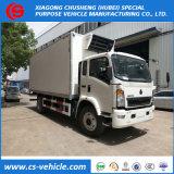 DFAC 4X2 8tons Cargo Box Van Refrigeration Truck para la venta