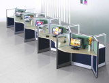 Metal Frame Workstation Glass Desk Partition Panels Mobilier de bureau (SZ-WST651)