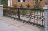 El ganado de la puerta delantera corrediza/ Puerta de hierro forjado/Jardín Gate
