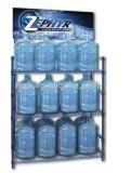 Nuova cremagliera di visualizzazione della bottiglia di acqua del metallo con la pubblicità del supporto