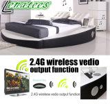 Кровать нот кровати популярной конструкции A066-1 круглая с диктором