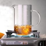 La micro-onde font la cuvette de mesure en verre de cuvette d'échelle de cuvette de lait de déjeuner en verre en verre de cuvette