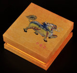Деревянная зернистая бумажная коробка драгоценности заволакивания