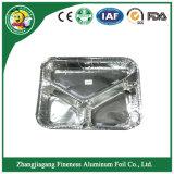 Bac d'aluminium avec trois parties