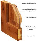 Puerta de madera/puerta de madera sólida con el marco sólido completo