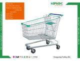 Супермаркет металла магазинов Trolley с блокируемые самоустанавливающиеся колеса