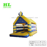 子供のための快適でかわいく青く小さいバス膨脹可能な跳躍の警備員