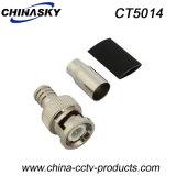 Encrespadura masculina del conectador del CCTV BNC para Rg59 con el cargador corto (CT5014)