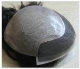 人間の毛髪の置換100%のインドの人間の毛髪のToupee