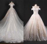 с платья венчания Zt7281 большого поезда шнурка плеча Bridal