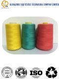 el Fábrica-surtidor Memoria-Hizo girar el uso 100% de la tela del hilo de coser 40s/2 de la materia textil del poliester