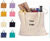 관례에 의하여 인쇄되는 로고 손 부대 여자와 가진 주문을 받아서 만들어진 재상할 수 있는 면 끈달린 가방 쇼핑 백