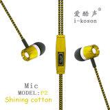La conception de logo Hesdsfree OEM écouteurs intra-auriculaires avec microphone
