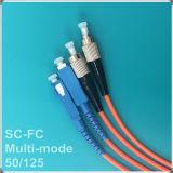 FC-Sc 50/125 het Koord van het Flard van de Optische Vezel