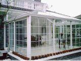 Grado Superior de color madera UPVC ventana con doble vidrio