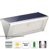 La aleación de aluminio 1100 lúmenes LED 46 Sensor de movimiento PIR resistente al agua solar al aire libre Jardín de luz de pared
