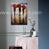 Handmade impresionante lienzo figurativa pintura al óleo para la Decoración de pared