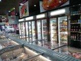Дисплей из морепродуктов в вертикальном положении морозильной камере