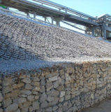Malha de gabião para projeto de proteção da estrada sobre a venda