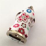 Горячим заряжателя автомобиля USB надувательства 5V 1A напечатанный цветком заряжатель USB батареи мобильного телефона одиночного всеобщий