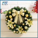 2018 adornos de navidad artificial corona de flores