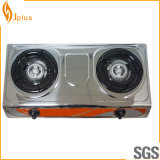 Fornello di gas del bruciatore del pannello 2 dell'acciaio inossidabile Jp-Gc206